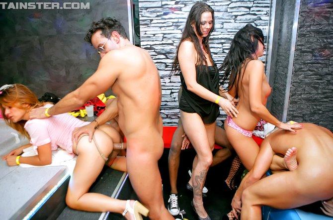 Crazy lesbian party sex