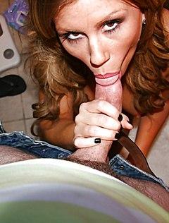 Старательная жена сосет и ебется в вагину в ванной