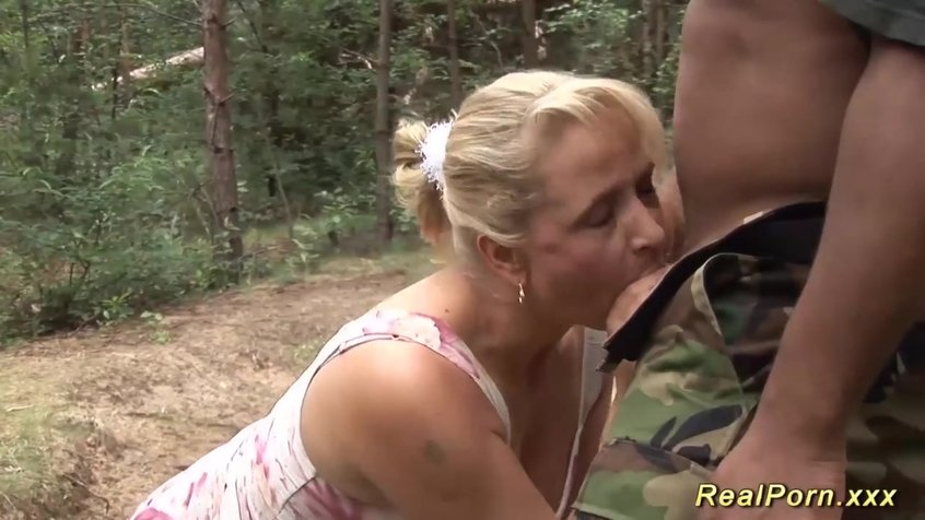 В лесу тетку ебут